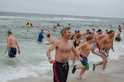 Participants in the 2015 Seaside Heights Polar Plunge, Feb. 21, 2015. (Photo: Daniel Nee)