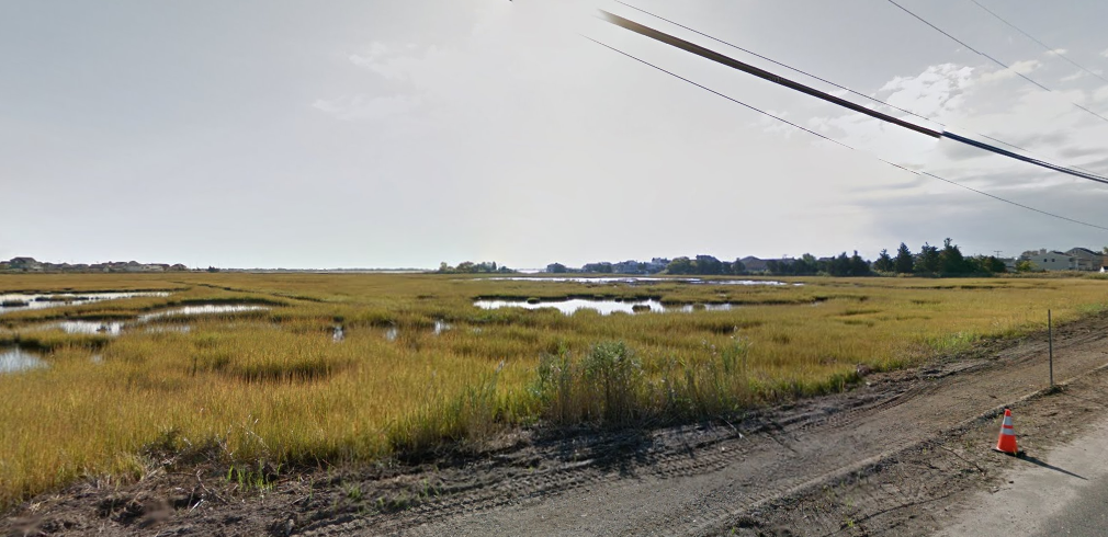 Marsh areas off Knoll Crest Avenue in Brick. (Credit: Google Maps)