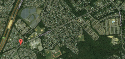 The area near Lanes Mill Elementary School where sidewalks will be installed. (Credit: Google Maps)