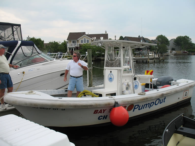 The Bay Saver pump-out boat. (Photo: Ocean County)