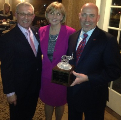 Brick Republican Club President John Catalano with Lt. Gov. Kim Guadagno and Rep. Tom MacArthur