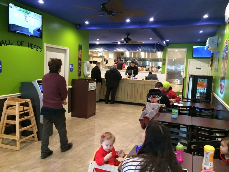 The new Bubbakoo's Burritos store in New Brunswick.