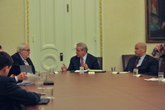 THe U.S. Senators from NJ and NY meet with FEMA head Craig Fugate in Washington, D.C. (Photo: Sen. Bob Menendez)