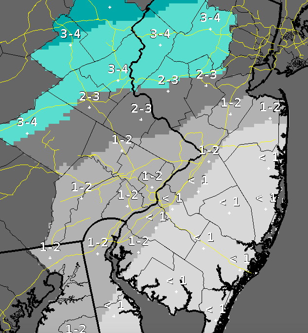 Snow accumulation expected March 1, 2015. (Credit: NWS) Click to expand.