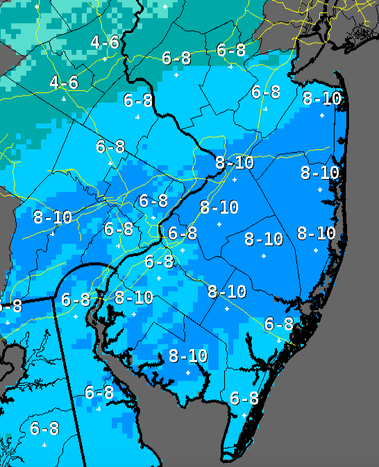 Snow totals through Thursday, March 5. (Credit: NWS)
