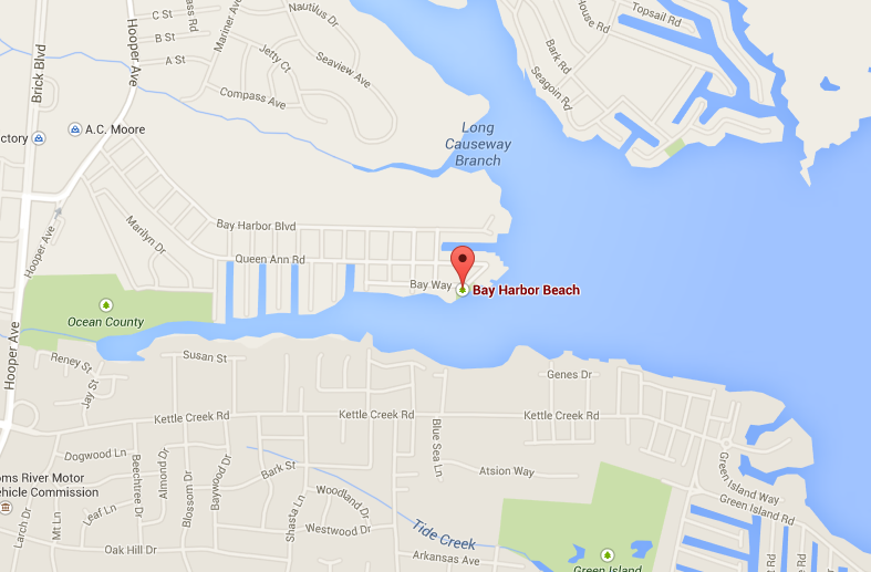 Bay Harbor Beach, Brick, N.J. (Credit: Google Maps)