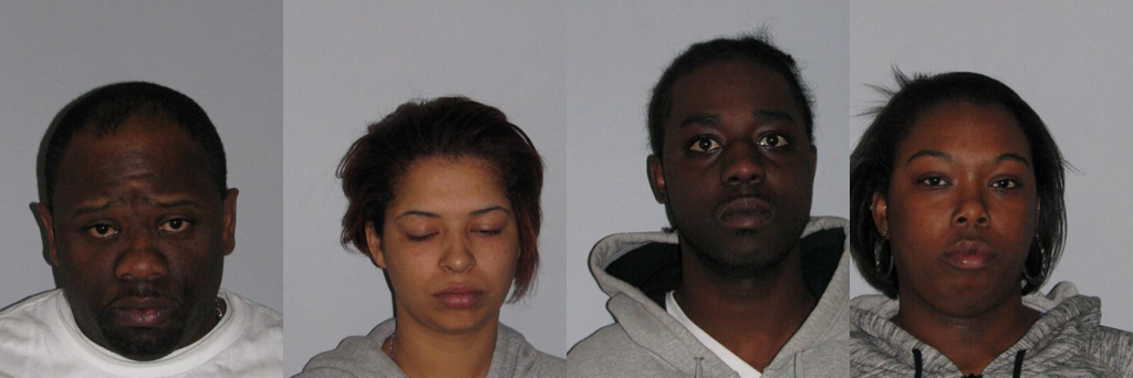 Anthony Simpson, Jasmine Mosher, Antonio Spradley and Ashley Askew. (Photos: NJ State Police)