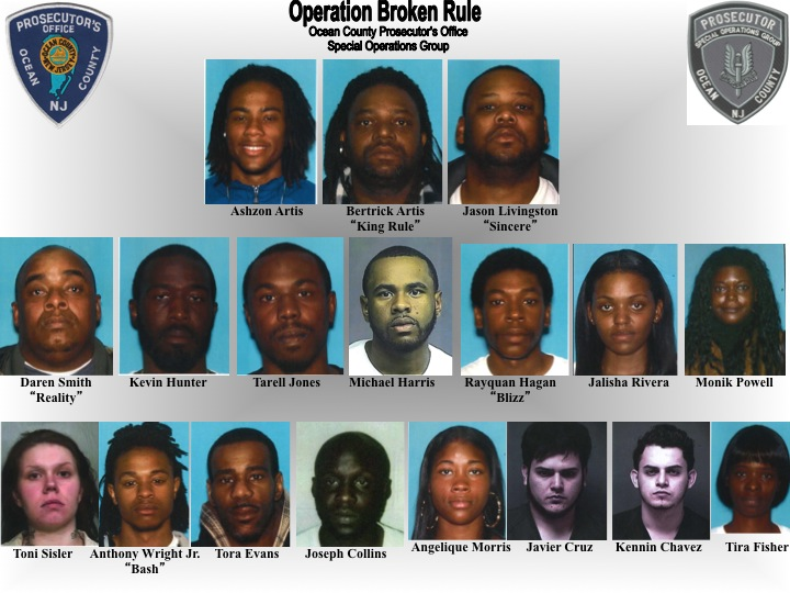Arrestees in 'Operation Broken Rule' (Credit: OCPO)