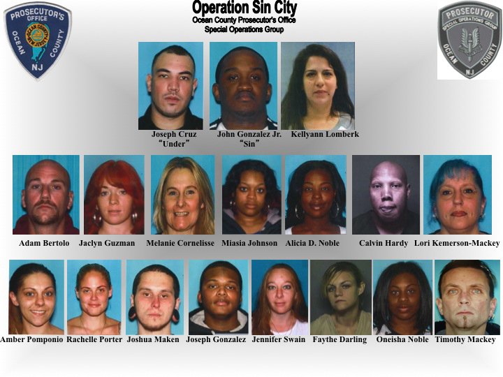 Operation Sin City Arrestees