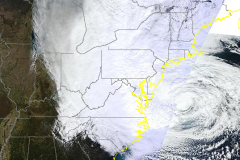Hurricane Sandy takes aim at New Jersey. (Credit: CIMSS/University of Wisconsin)
