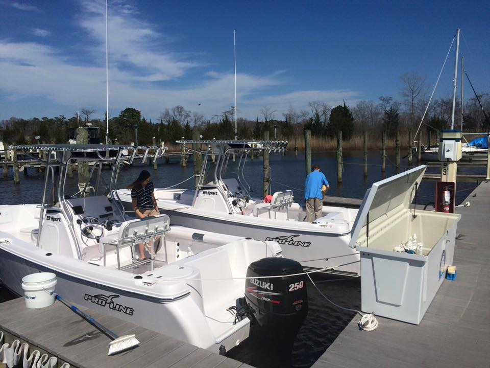 Pro-Line center console fishing boats, part of the Freedom Boat Club fleet in Brick. (Photo: Theresa Najjar)