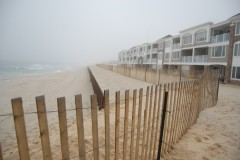 Fencing installed along the oceanfront in Brick Township, N.J. (Photo: Daniel Nee)