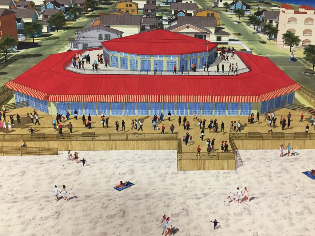 A proposed museum that will house a historic carousel on the Seaside Heights boardwalk. (Photo: Daniel Nee)
