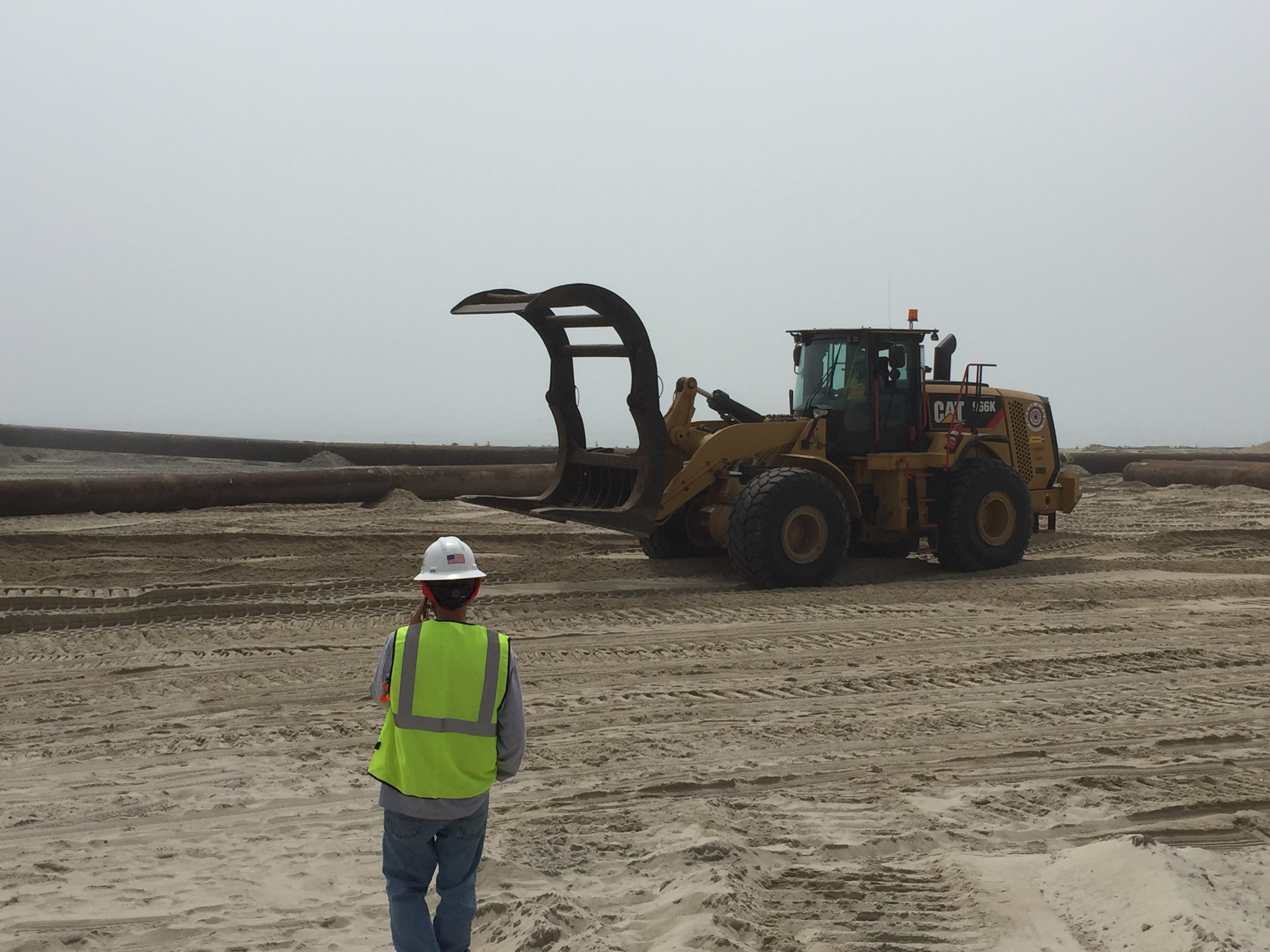 Beach replenishment commences in Ship Bottom, N.J., May 7, 2015. (Photo: Daniel Nee)