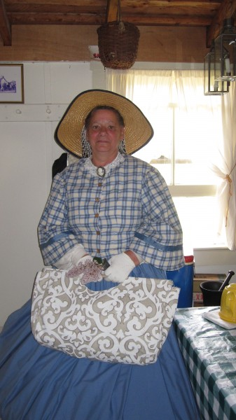 Jerri Chadwick of Brick in Civil War costume to entertain at the tea.