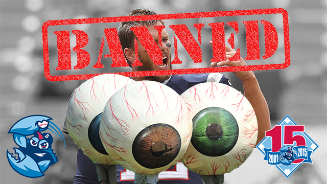 Tom Brady is banned from BlueClaws games. (Photo: Lakewood BlueClaws)