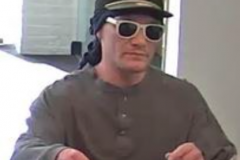 A photo of the suspect in a Toms River bank robbery. (Credit: TRPD)