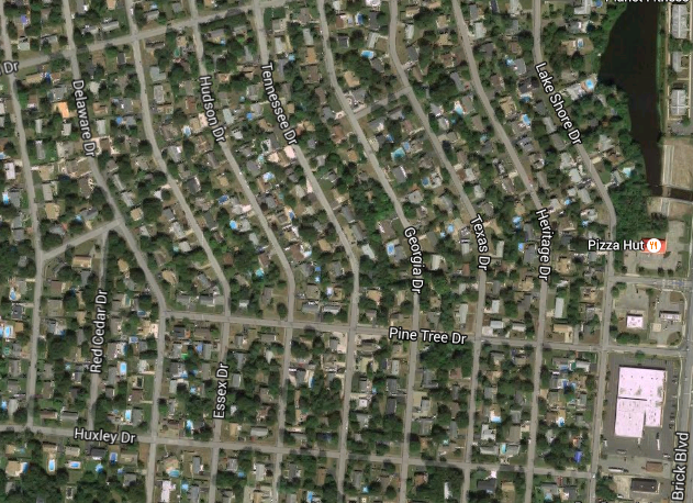 Streets in Lake Riviera, Brick, NJ (Credit: Google Maps)