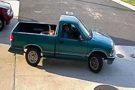 Surveillence photos of a suspect theft of an air pump from a Toms River gas station. (Photo: TRPD)