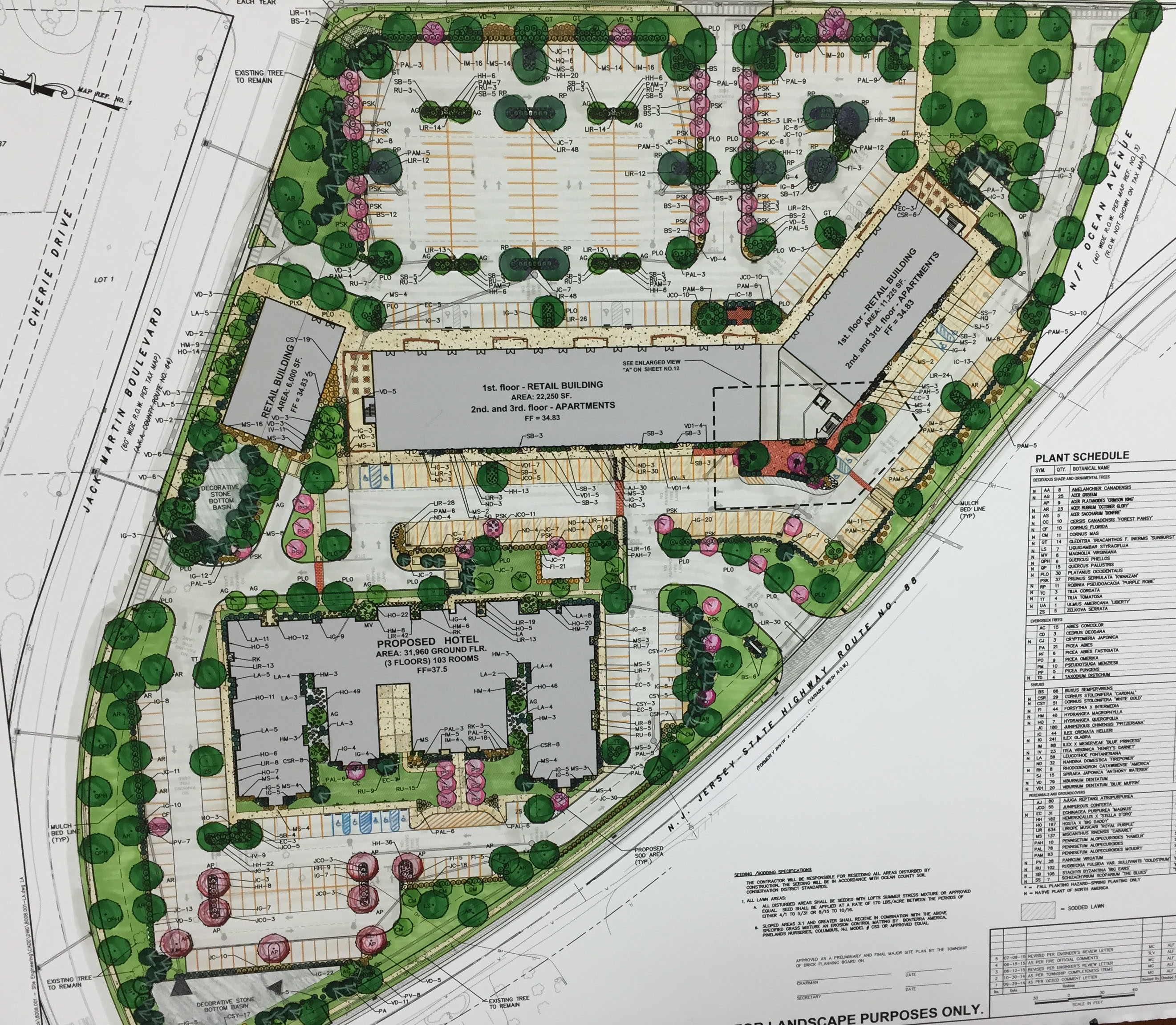 A proposed hotel, apartment and retail complex in Brick, N.J. (Photo: Daniel Nee)