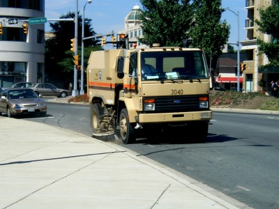 A street sweeper in Arlington, Va. (Photo: Arlington County)