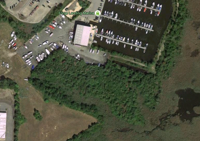 The site of a land parcel being donated to Brick Township. (Credit: Google Maps)