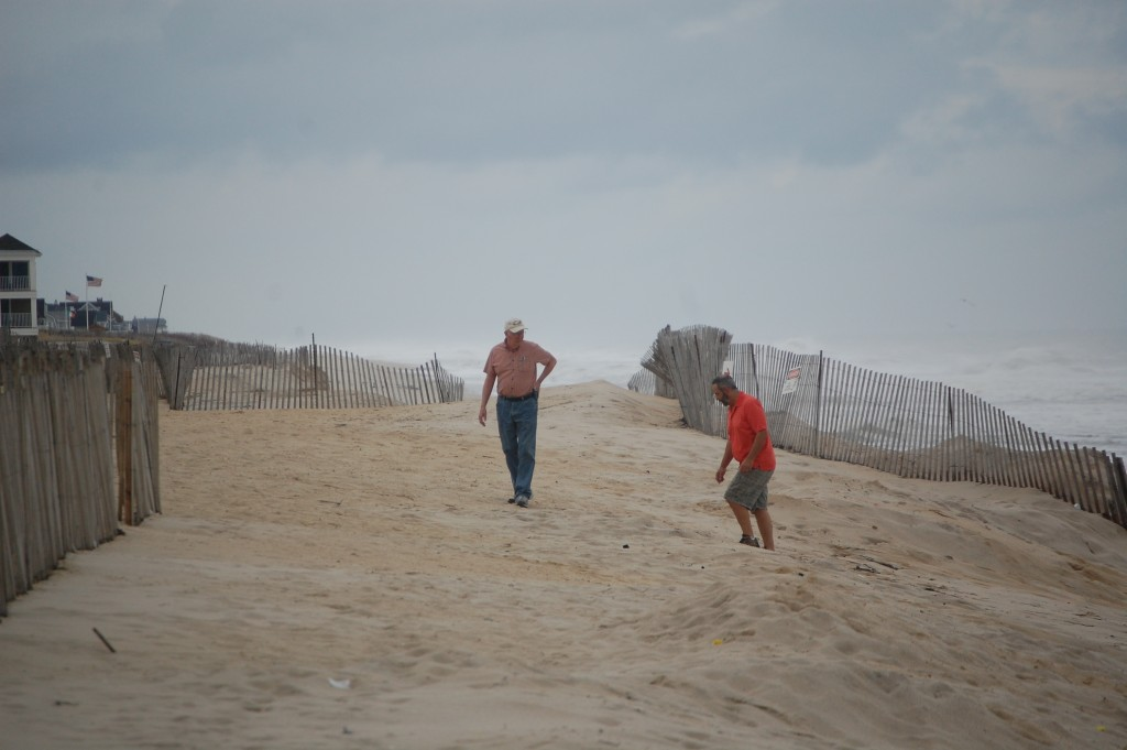 Locals walk the beach in the Brick Township portion of Normandy Beach, Sept. 30, 2015. (Photo: Daniel Nee)