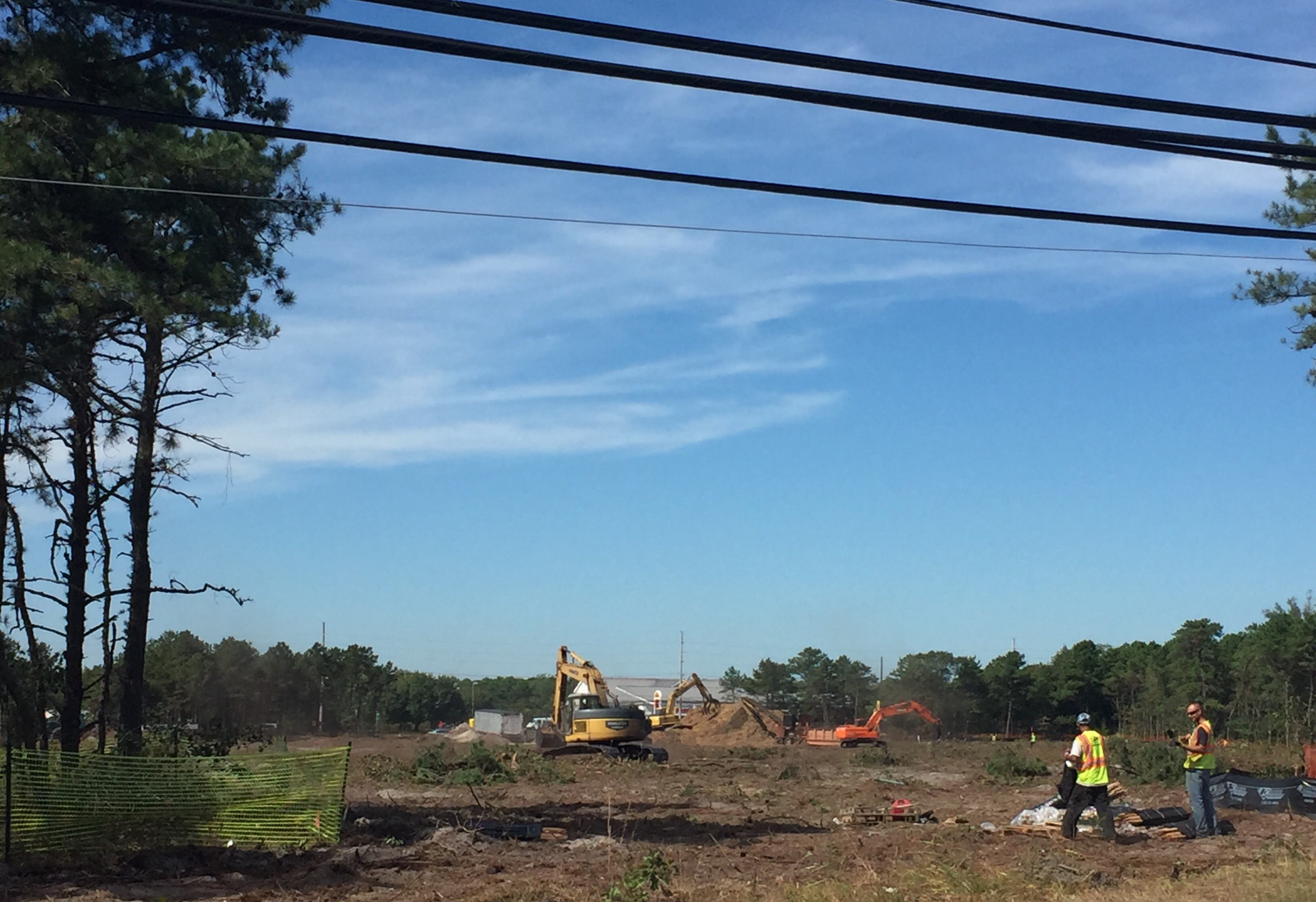 Clearing treed from the future site of 'The Boulevard at Brick' apartment complex. (Photo: Daniel Nee)
