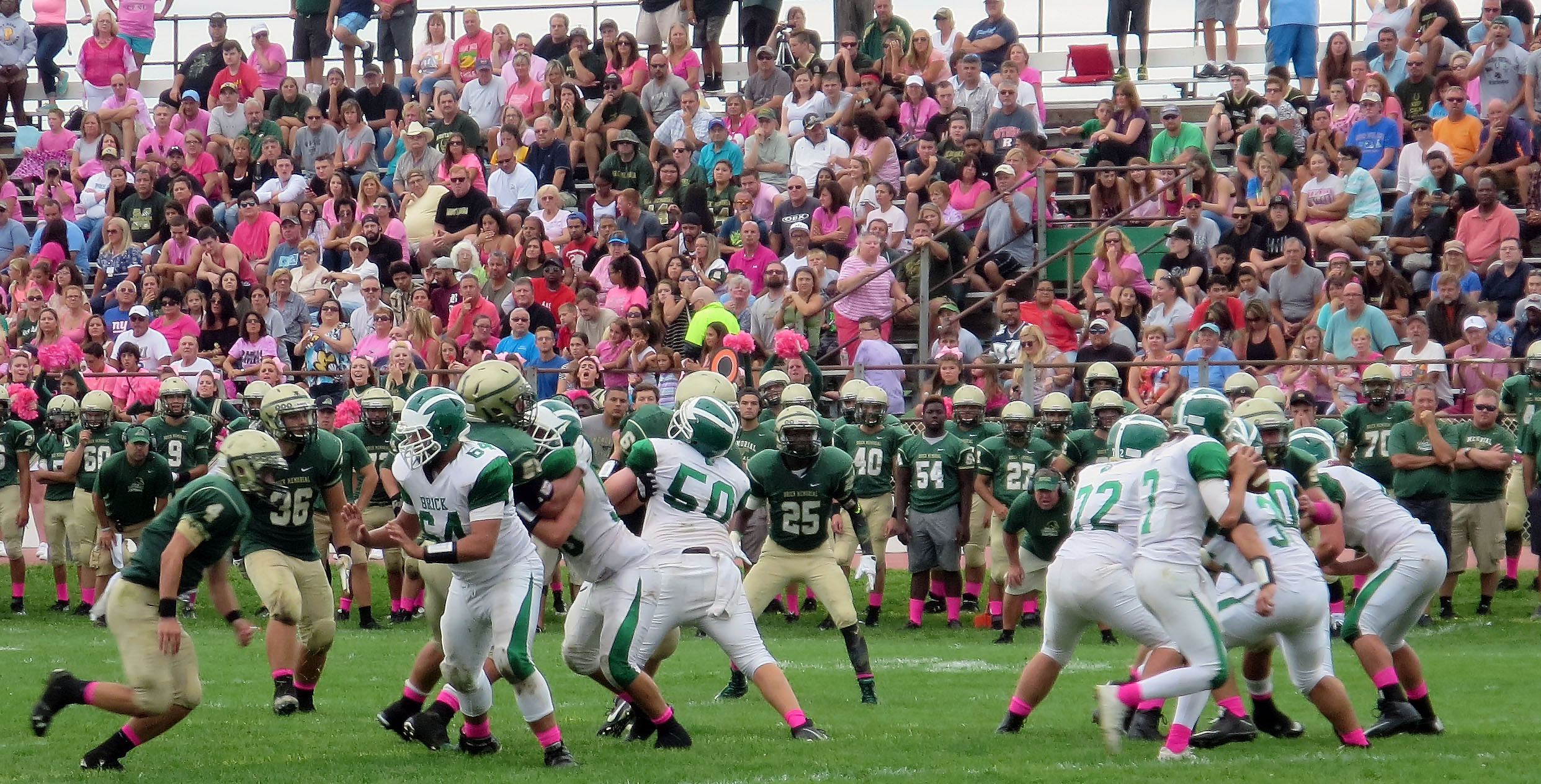 The Mustangs and Dragons faced off in an opening-day rivalry game, Sept. 12, 2015. (Shorebeat File Photo)