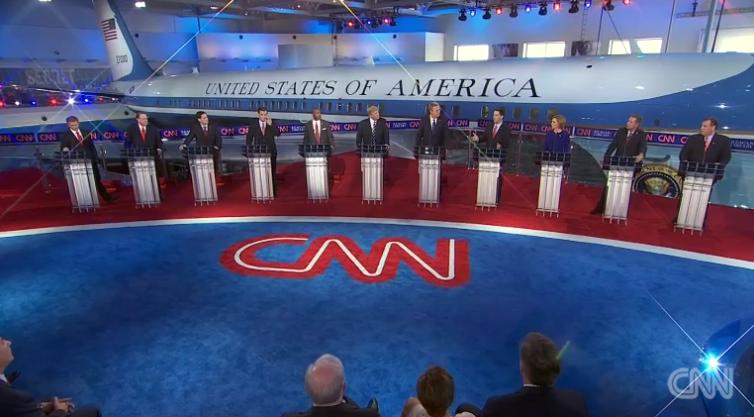 The Sept. 16, 2015 GOP debate. (Screenshot: CNN)