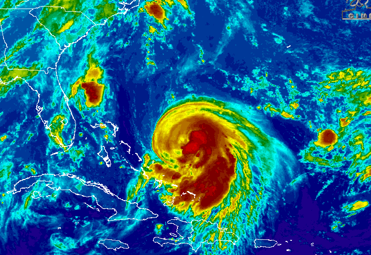 Joaquin, early Wednesday morning. (Credit: CIMSS/Tropical)