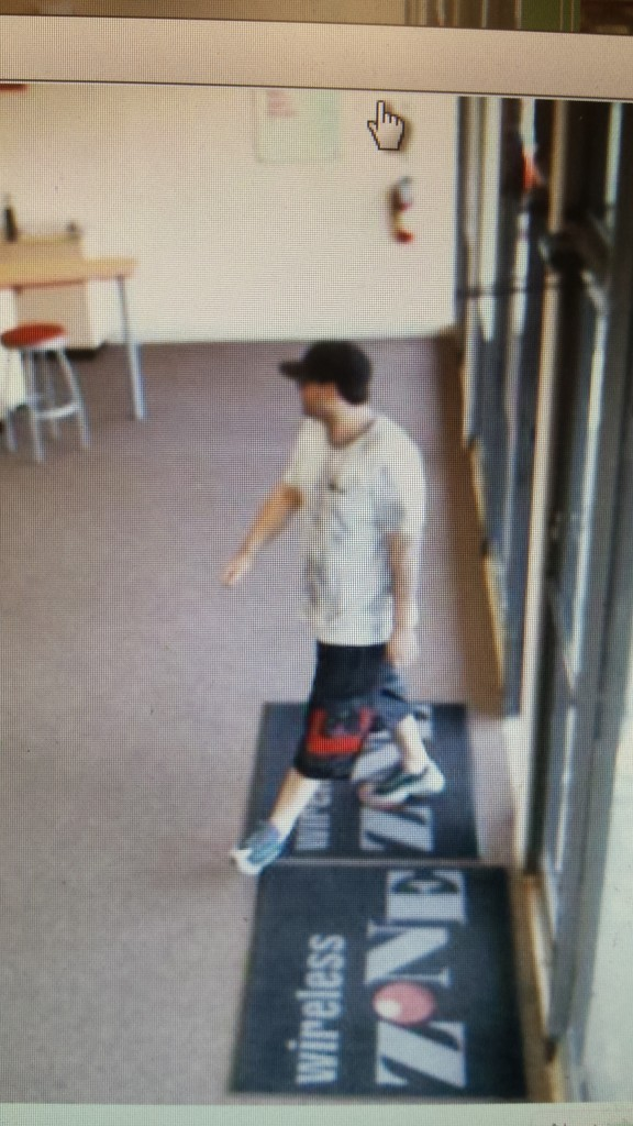 The suspect in the theft of a phone from the Brick Verizon store, Sept. 6, 2015. (Photo: Brick Twp. Police)