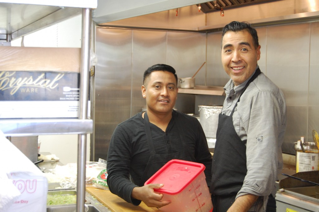 Mexico Lindo owner Abel Guerrero (right) and chef Jesus Perez. (Photo: Daniel Nee)