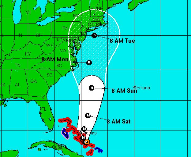 National Hurricane Center forecast, 11am, Oct. 1, 2015 (Credit: NHC)