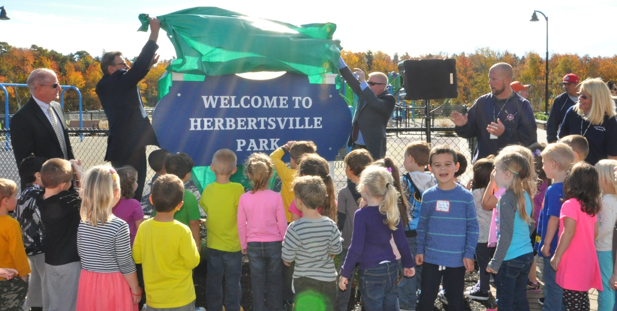 Herbertsville Park ribbon cutting. (Photo: Brick Twp.)