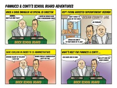 A cartoon portrayal of two Brick Township Council candidates. (Credit: Ducey Team for Brick)