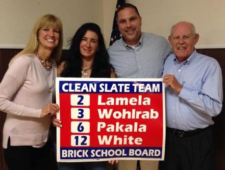 Victoria Pakala (from left), Stephanie Wohlrab, John Lamela and George White