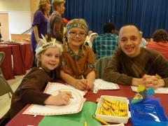 St. Dominic School, Brick, hosts a Thanksgiving feast, Nov. 23, 2015.