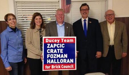 Andrea Zapcic (from left), Lisa Crate, John Ducey, Jim Fozman and Art Halloran.