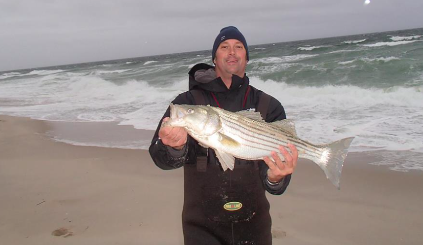 Local angler Nick Honachefsky with one, of many, fish caught this week. (Photo: Nick Honachefsky/Charlie's Bait and Tackle)