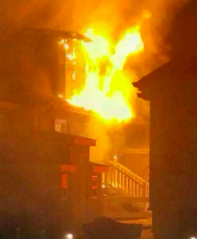 A fire at 9 Ritchie Court in Brick. (Submitted Photo)
