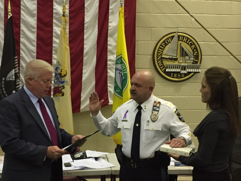 Chief James Riccio is sworn into office. (Photo: Daniel Nee)