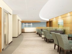 A rendering of the upcoming cancer center at Ocean Medical Center. (Credit: Meridian Health)