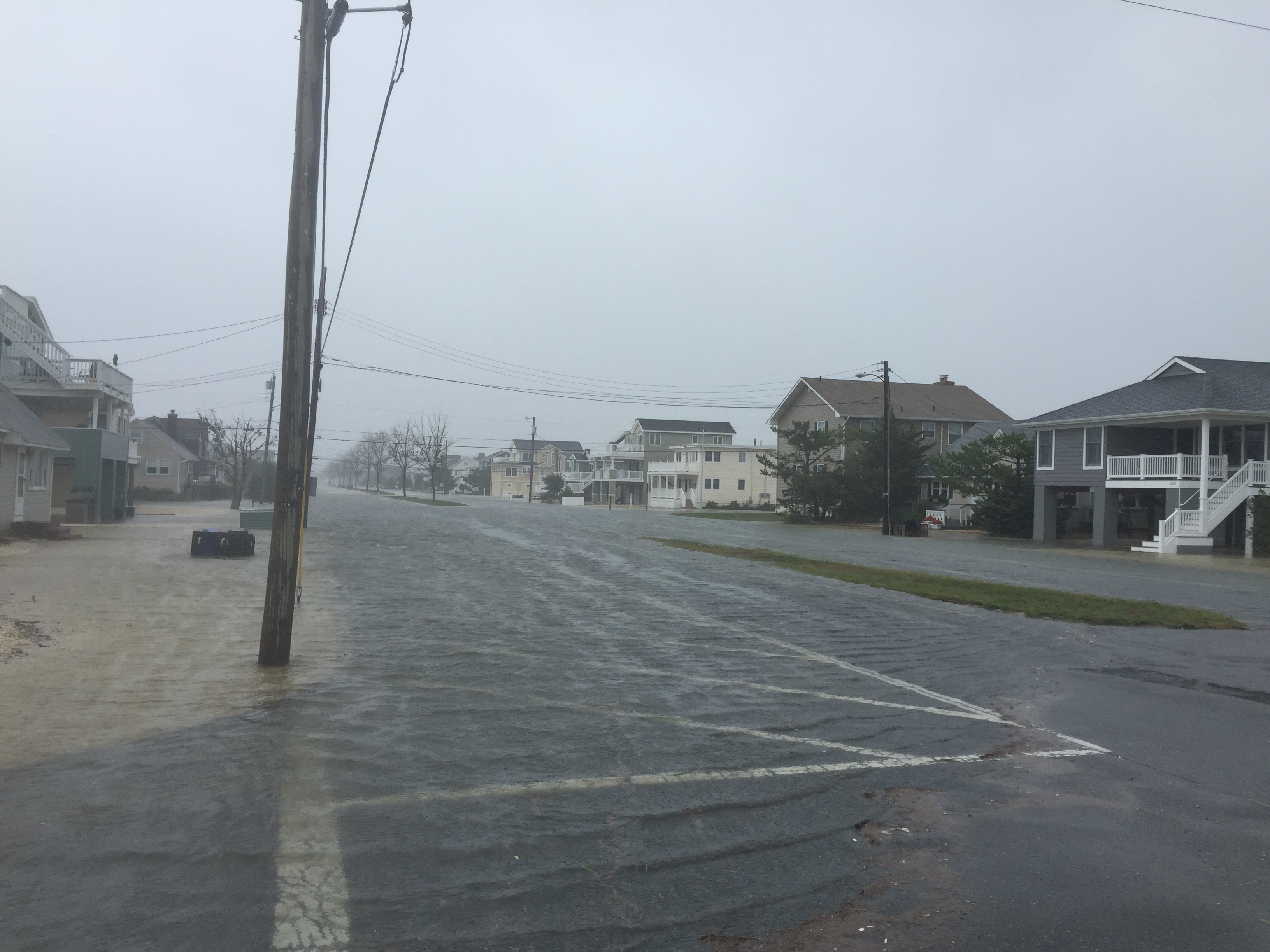Barrier island flooding in Ocean County during the Oct. 2015 nor'easter. (Photo: Daniel Nee)