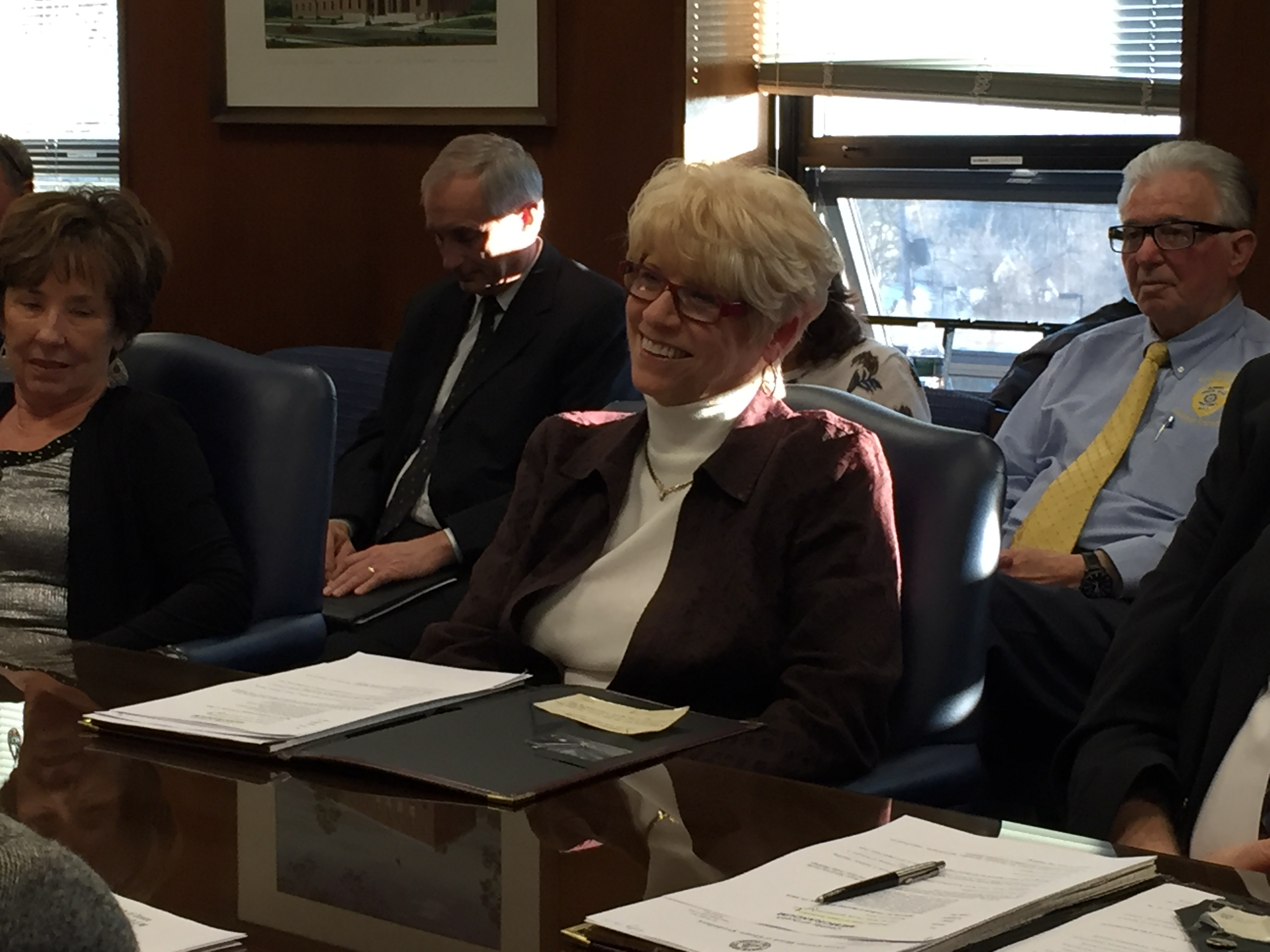 """Virginia """"Ginny"""" Haines at her first freeholder meeting, Jan. 27, 2016. (Photo: Daniel Nee)"""