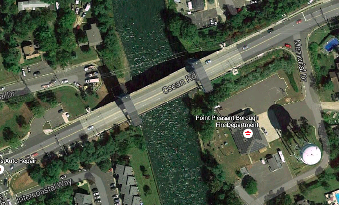 The Route 88 bridge in Point Pleasant Borough. (Credit: Google Maps)