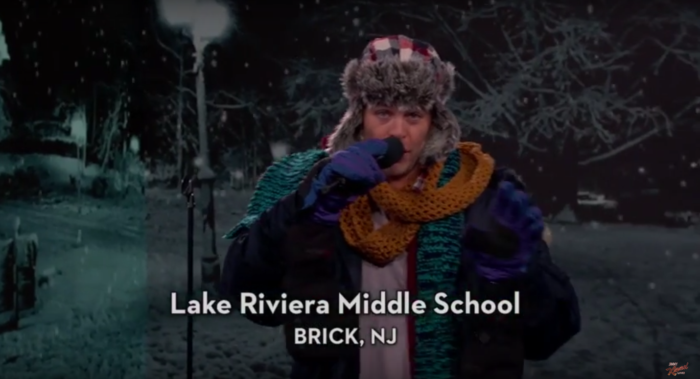 Actor Chris Pine sings about school closures, including two in Brick. (Credit: ABC)