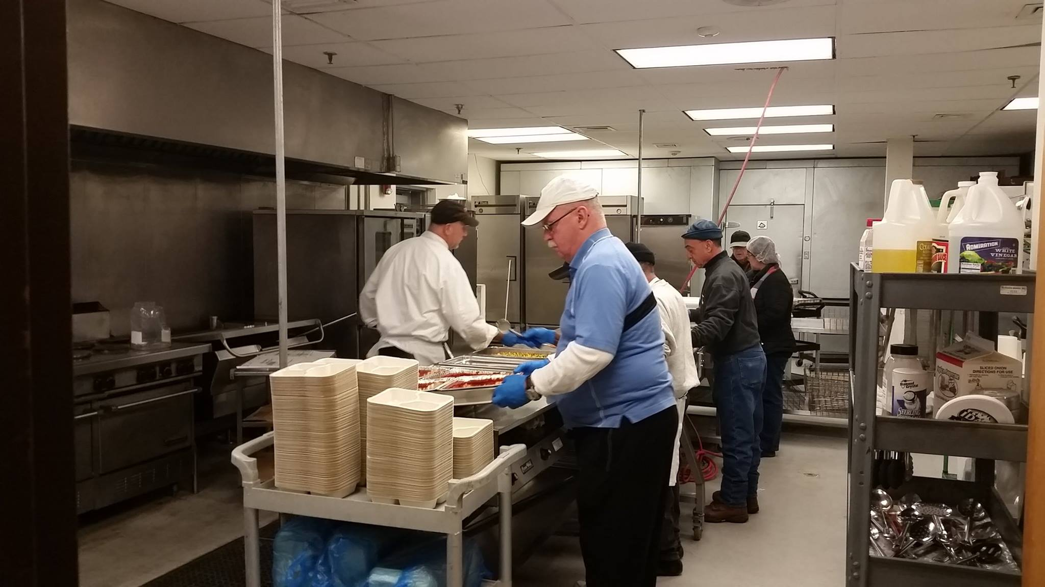 Meals are prepared in a kitchen for Ocean County senior citizens. (Photo: Ocean County Meals on Wheels)