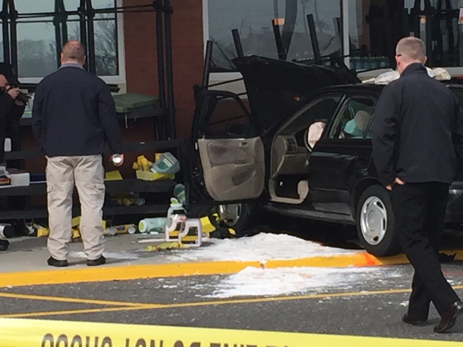 A vehicle after it crashed into the Brick Shop Rite store. (Submitted Photo)