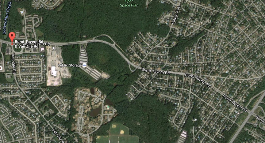 Burnt Tavern, from Van Zile Rd. to Route 70, in Brick. (Credit: Google Maps)
